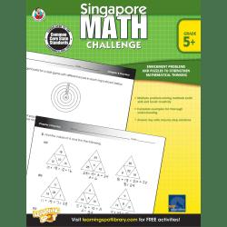 Frank Schaffer Singapore Math Challenge Workbook, Grade 5+