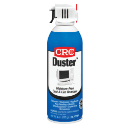 CRC Duster™ Moisture-Free Dust And Lint Remover, 8 Oz, Clear, Box Of 12 Cans
