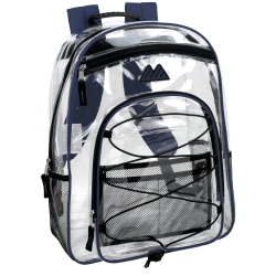 Trailmaker Water-Resistant Clear Backpack, Blue