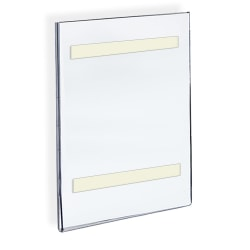 """Azar Displays Acrylic Sign Holders With Adhesive Tape, 14"""" x 8 1/2"""", Clear, Pack Of 10"""