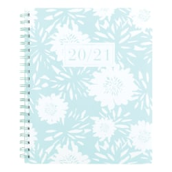 """See Jane Work® Floral Academic Weekly/Monthly Planner, 8-1/2"""" x 11"""", Blue, July 2020 to June 2021, SJ101-905A"""