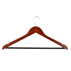 "Honey-Can-Do Suit Hangers, 9""H x 1/2""W x 17 3/4""D, Cherry, Pack Of 24"