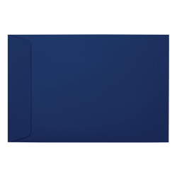 "LUX Open-End Envelopes With Moisture Closure, #6 1/2, 6"" x 9"", Navy, Pack Of 1,000"