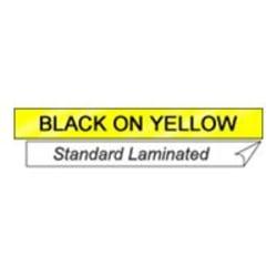"Brother® TX6311 Label Tape Cartridge, 1/2"" x 50', Black On Yellow"