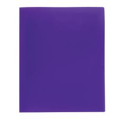 Office Depot® Brand Poly 2-Pocket Portfolio, Purple