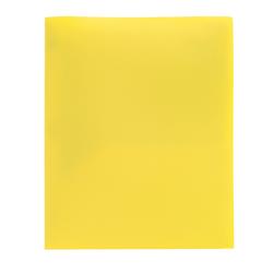 Office Depot® Brand Poly 2-Pocket Portfolio, Yellow
