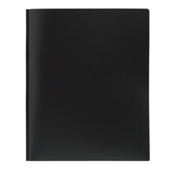 Office Depot® Brand Poly 2-Pocket Portfolio With Fasteners, Black