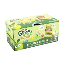 Materne GoGo Squeez Organic Applesauce On-The-Go Variety Pack, 3.2 Oz, Pack Of 20 Pouches