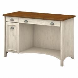 "Bush Furniture Fairview Computer Desk, 48""W, Antique White/Tea Maple, Standard Delivery"