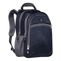"Volkano Orthopaedic Backpack With 15.6"" Laptop Compartment, Navy/Gray"