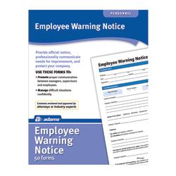 Adams® Warning Notice Forms