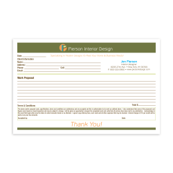 """Custom Carbonless Business Forms, Create Your Own, Full Color, 8-1/2"""" x 5-1/2"""", 3-Part, Box Of 250"""