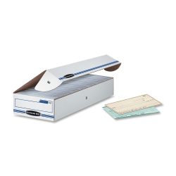 """Bankers Box® Econo Stor/File™ Standard-Duty Storage Boxes, 9"""" x 24"""" x 4"""", 65% Recycled, White/Blue, Case Of 12"""
