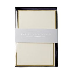 """Sincerely A Collection by C.R. Gibson® Paneled Informal Notes, 3 1/2"""" x 4 7/8"""", Ivory, Pack Of 40"""