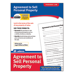 Adams® Agreement To Sell Personal Property