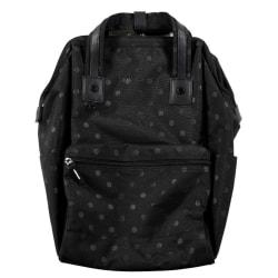 """Heritage Polka Dot Computer Backpack With 15"""" Laptop Pocket, Black"""
