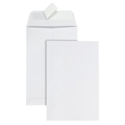 "Office Depot® Brand Clean Seal™ Catalog Envelopes, 6"" x 9"", 30% Recycled, White, Box Of 125"
