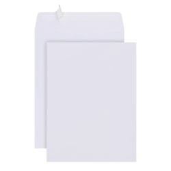 """Office Depot® Brand  9"""" x 12"""" Catalog Envelopes, Clean Seal, 30% Recycled, White, Box Of 125"""