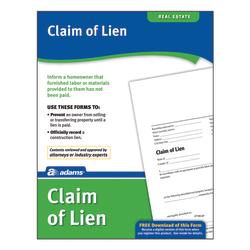 Adams® Claim of Lien