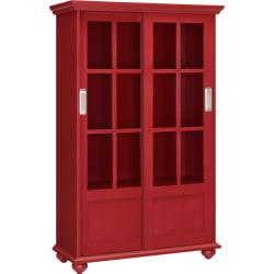 Ameriwood™ Home Aaron Lane 4-Shelf Bookcase, Red