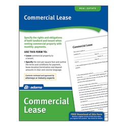 Adams® Commercial Lease