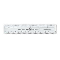 "Acme Durable Plastic 6"" Clear Ruler"