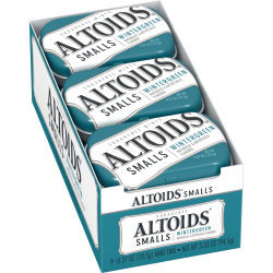 Altoids® Curiously Strong Mints, Sugar-Free Wintergreen, 0.33 Oz, Pack Of 9 Tins