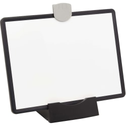 """Tripp Lite Magnetic Dry-Erase Whiteboard with Stand & 3 Markers Black Frame - 11.5"""" (1 ft) Width x 8.5"""" (0.7 ft) Height - White Surface - Black Frame - Rectangle - Horizontal/Vertical - Desktop, Mount"""
