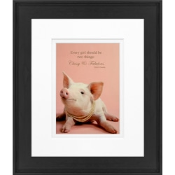 "Timeless Frames Alexis Framed Animal Artwork, 8"" x 10"", Black, Pretty In Pink"