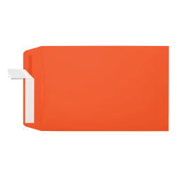 """LUX Open-End Envelopes With Moisture Closure, #6 1/2, 6"""" x 9"""", Tangerine, Pack Of 500"""