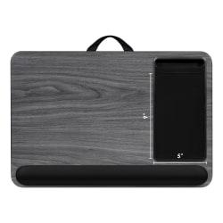 """LapGear XL Deluxe Home Office Lap Desk, 21-1/8"""" x 14"""" x 2-5/8"""", Gray Woodgrain"""