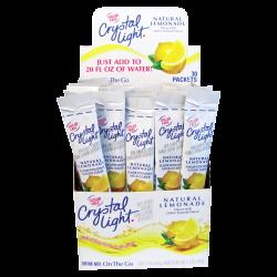 Crystal Light® On The Go Mix Sticks, Lemon, Box Of 30 Packets