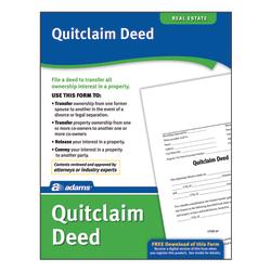 Adams® Quitclaim Deed