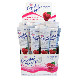Crystal Light® On The Go Mix Sticks, Raspberry, Box Of 30 Packets