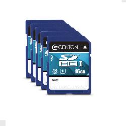 Centon Secure Digital™ Memory Cards, 16GB, Pack Of 5 Memory Cards, S1-SDHU1-16G-5-B