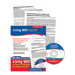 Adams® Living Will & Power of Attorney for Healthcare Kit