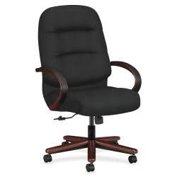 HON® Pillow-Soft® Ergonomic High-Back Chair, Black/Mahogany