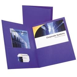 Oxford™ Twin-Pocket Portfolios, Purple, Pack Of 10