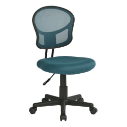 Office Star™ Mesh Mid-Back Task Chair, Blue/Black