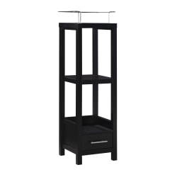 "Linon Home Decor Products Hulda 14-1/2""W Tall Cabinet With Drawer, Black"