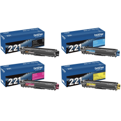 Brother® TN-221 Toner Cartridge Set
