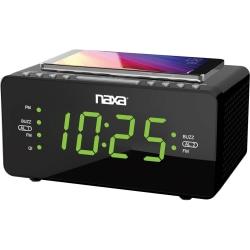 Naxa NRC-191 Desktop Clock Radio - Stereo - 2 x Alarm - FM - USB