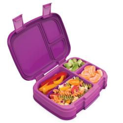 "Bentgo Fresh 4-Compartment Bento-Style Lunch Box, 2-7/16""H x 7""W x 9-1/4""D, Purple"