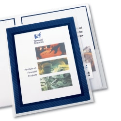Avery® Flexi-View 2-Pocket Folders, Navy, Pack Of 2