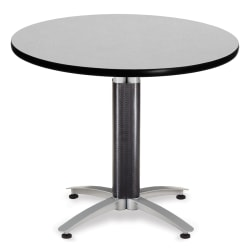 """OFM Multipurpose Table, Round, 36""""W x 36""""D, Gray"""