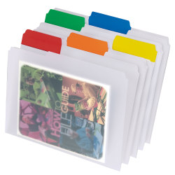 Pendaflex® EasyView™ File Folders, 1/3 Cut, Letter Size, Assorted Colors, Pack Of 25