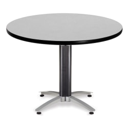"OFM Multipurpose Table, Round, 42""W x 42""D, Gray"