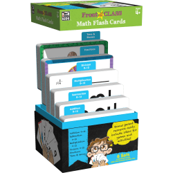 Thinking Kids® Front Of The Class Math Flash Cards, Multicolor, Grades Pre-K - 3, 54 Flash Cards Per Deck, Pack Of 6 Decks