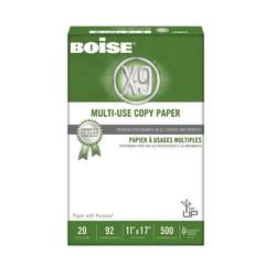 "Boise® X-9® Multi-Use Copy Paper, Ledger Size (11"" x 17""), 92 (U.S.) Brightness, 20 Lb, Ream Of 500 Sheets"