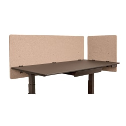 "Luxor RECLAIM Acoustic Privacy Desk Panels, 60""W, Desert Sand, Pack Of 2"